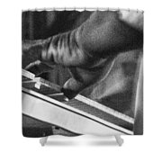 Keyboard In Black And White Shower Curtain