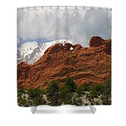 Keyhole To Pikes Peak Shower Curtain