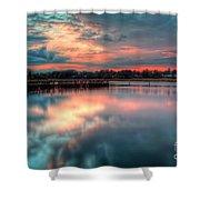 Keyport Nj Sunset Reflections Shower Curtain