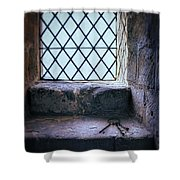 Keys On Stone Windowsill Shower Curtain