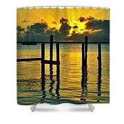 Keys Sunset Shower Curtain