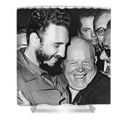 Khrushchev And Castro Shower Curtain