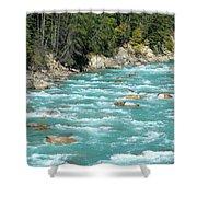 Kicking Horse River Shower Curtain