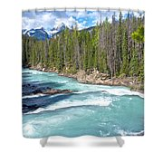Kicking Horse River In Yoho Np-bc Shower Curtain