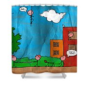 Kids At Play Shower Curtain by Gianfranco Weiss