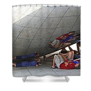 Kids At The Bean Shower Curtain