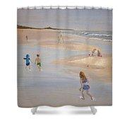 Kids On The Beach Shower Curtain