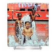 Kids Summer Fun Shower Curtain