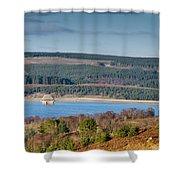 Kielder Dam And Valve Tower Shower Curtain
