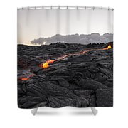 Kilauea Volcano 60 Foot Lava Flow - The Big Island Hawaii Shower Curtain