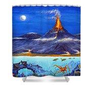 Kilauea Volcano Hawaii Shower Curtain