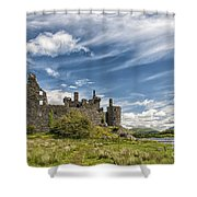 Kilchurn Castle 01 Shower Curtain