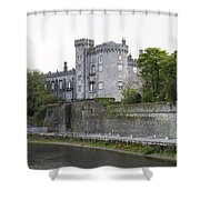 Kilkenny Castle Seen From River Nore Shower Curtain