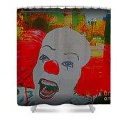 Killer Clowns In Fresco Shower Curtain