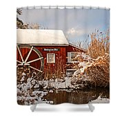 Kimberton Mill After Snow Shower Curtain