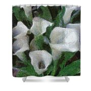 Kim's Flowers Shower Curtain