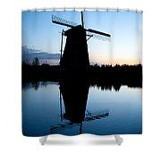 Kinderdijk Dawn Shower Curtain