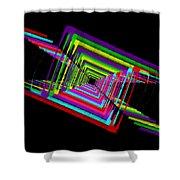 Kinetic Rainbow 17 Shower Curtain