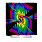 Kinetic Rainbow 47 Shower Curtain
