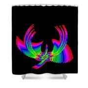 Kinetic Rainbow 49 Shower Curtain