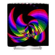 Kinetic Rainbow 51 Shower Curtain
