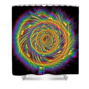 Kinetic Rainbow 60 Shower Curtain