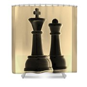 King And Queen In Sepia Shower Curtain