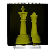 King And Queen In Yellow Shower Curtain by Rob Hans