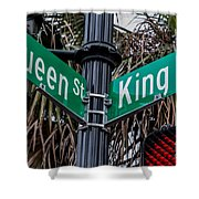 King And Queen Street Shower Curtain