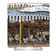 King Arthur Carrousel Fantasyland Disneyland Shower Curtain