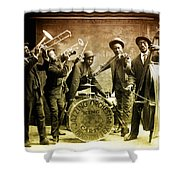 King Carter Jazzing Orchestra Shower Curtain