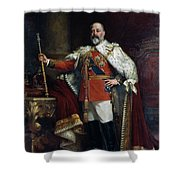 King Edward Vii Of England (1841-1910) Shower Curtain