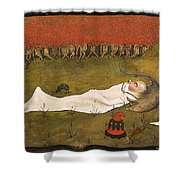 King Hobgoblin Sleeping Shower Curtain