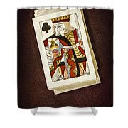 King Of Clubs Shower Curtain