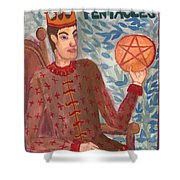 King Of Pentacles Shower Curtain