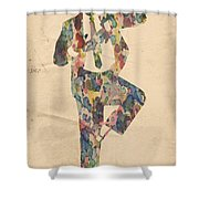 King Of Pop In Concert No 10 Shower Curtain