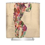 King Of Pop In Concert No 12 Shower Curtain
