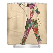 King Of Pop In Concert No 2 Shower Curtain
