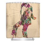 King Of Pop In Concert No 5 Shower Curtain