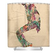 King Of Pop In Concert No 8 Shower Curtain