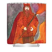 King Of Wands Shower Curtain