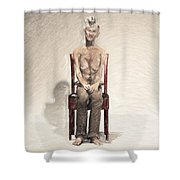 King Shower Curtain by Taylan Apukovska