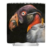 King Vulture - Impasto Shower Curtain