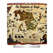 Kingdoms Of Magic Battle Map Shower Curtain