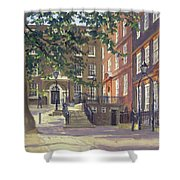 Kings Bench Walk, Inner Temple Oil On Canvas Shower Curtain