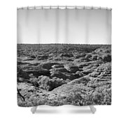 Kings Canyon Black And White Shower Curtain