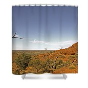 Kings Canyon-the Rim Shower Curtain
