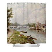 Kingston On Thames Shower Curtain by Robert Finlay McIntyre