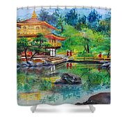 Kinkakuji  Shower Curtain