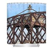 Kinnickinnic River Swing Bridge  4 Shower Curtain